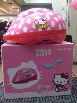 Helm Sepeda Motif Hello Kitty Original Untuk Anak Yang Suka Gowes