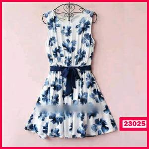 dress blue flowers