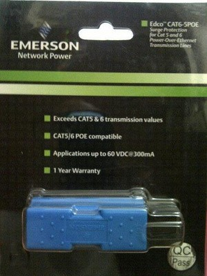 EMERSON Surge Protector Cat5-Cat6 POE