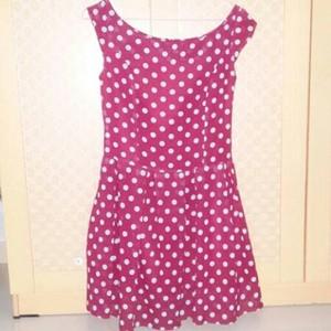 mini dress strato n polkadot