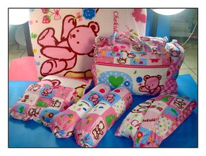 Kasur Tas Gendongan bayi 6 in 1 Dot Bear nuansa pink