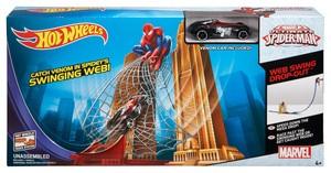 Hot Wheels Marvel Ultimate Spider-Man Web Swing Drop-Out Track Set