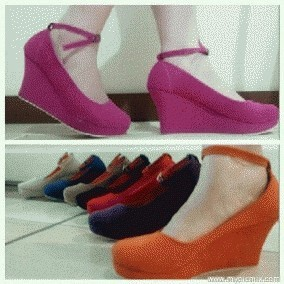 SALE !! wedges 10cm bludru / suede