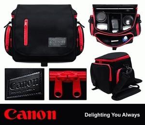 Tas Kamera Canon List Merah