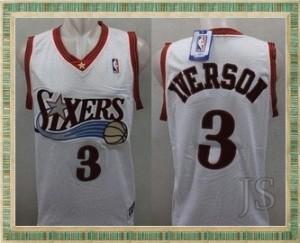 Jersey  basket Philadelphia 76ers White IVERSON No 3