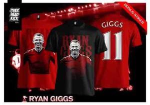 Kaos / tshirt Pemain Bola Ryan Giggs