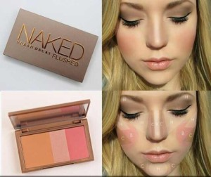 Naked flushed blush on