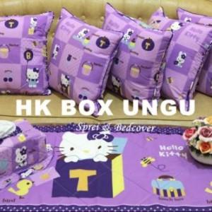 harga HELLO KITTY BOX UNGU SARUNG BANTAL KURSI SOFA, TAPLAK MEJA TAMU, DAN TEMPAT TISSUE Tokopedia.com
