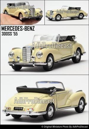 Miniatur Mobil Mercedes-Benz 300S '55- (Cream-32)