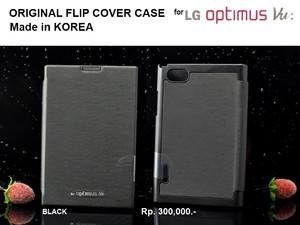LG Optimus Vu P895 : Original Korea Flip Cover Case (BLACK)
