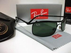 KACAMATA RAYBAN RB 3339 BLACK GREEN LENS
