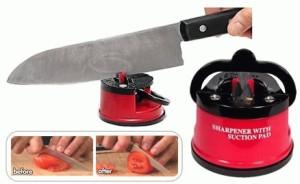 Knife Sharpener Suction Pad Pengasah Pisau dan Gunting alat dapur rumah tangga reseller dropship grosir ecer