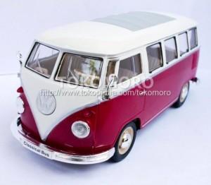 jual diecast miniatur mobil vw classical bus kombi merah ukuran besar combi tokomoro tokopedia. Black Bedroom Furniture Sets. Home Design Ideas