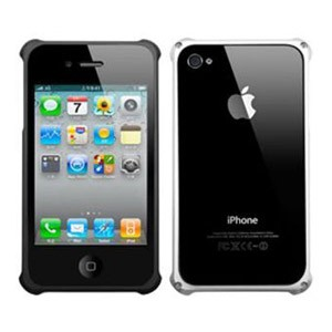 iPearl iPhone 4S Baron Aluminium Frame - Silver+Black