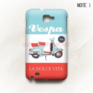 Vespa Samsung Galaxy Note 1 Casing Custom Hard Case