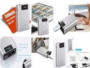 Hame F1 - 3G Mobile Power Wifi Router + Power Bank 7800mAh - Hame HM-F1 - Silver (Support Modem GSM & CDMA)