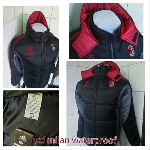 Jaket parasut waterproof AC Milan UCL