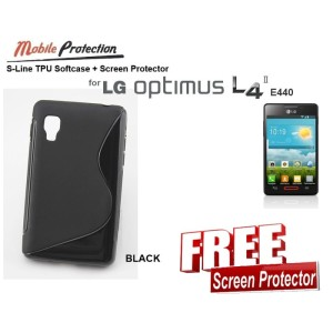 Softcase LG Optimus L4-II E440 : MP S-Line TPU Softcase ( + FREE SP)