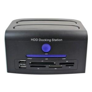 harga 2.5 / 3.5 SATA IDE USB2.0 HDD Docking Station CF SD XD MS TF Card Reader Model CH-328U2IS - Silver Black Tokopedia.com