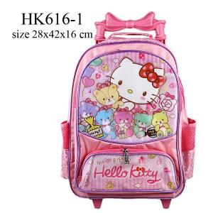 Jual Tas Sekolah Anak Trolley Hello Kitty HK616 1