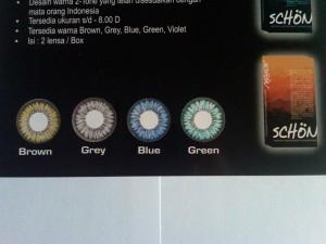 Softlens Schon Green Color Disposable