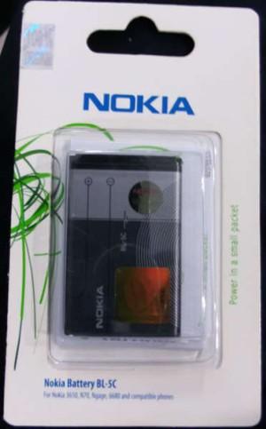 Baterei, Batere, Baterai Hp Nokia BL-5C Original 100%