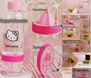 harga Citrus Zinger Botol Juicer Flavor with a Twist BPA Free Alat Perasan Buah Jeruk Lemon Fruit Juice Extractor Hello Kitty - HK Tokopedia.com