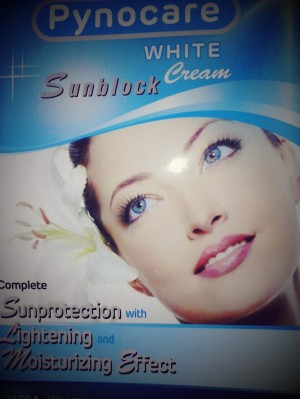 pynocare white sunblock spf25 pemutih anti flek dan tabir surya