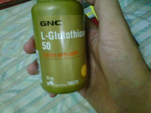 Suplemen Pemutih kulit GNC L-Glutathione