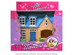Rumah-rumahan Dream House Warna Krem Atap Biru Muda - Kecil - Cantik ...