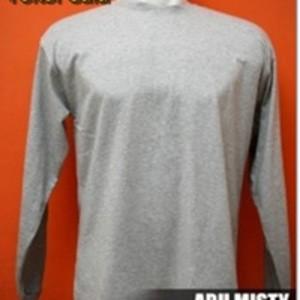 Lengan Panjang Kaos Polos Distro Warna Abu Misty Muda Ukuran M