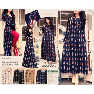 fii lapin bunny all buttons maxi