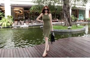 Dress cotton (green)