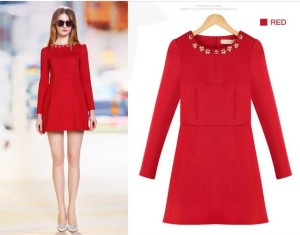 Dress Cotton (red)