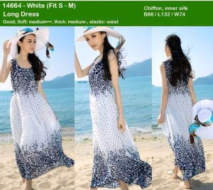 Dress chiffon,inner silk white