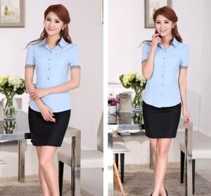 Kemeja cotton silk (biru)