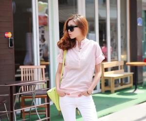 Kemeja cotton (pink)