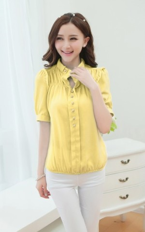 Kemeja Chiffon (yellow)