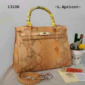 New Hermes Kelly Snake Embossed Swarovsky Semi Premium 1310K