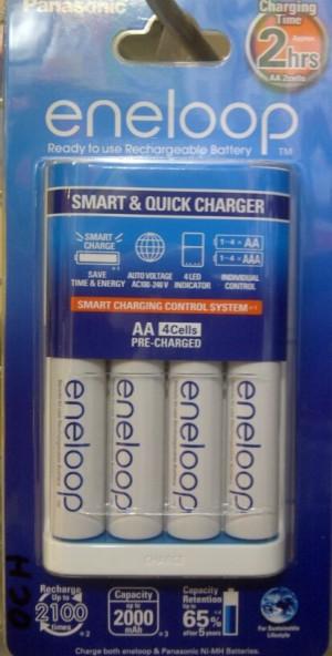 ENELOOP CHARGER 2HR + 4PCS AA 2000 MAH