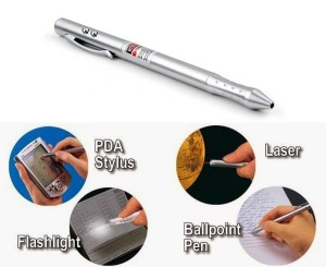 4-in-1 Laser Pointer + Ball Pen + PDA Stylus Pen + LED Light