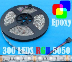 harga RGB 12V WaterProof PC Epoxy 5Mt SMD5050 Strip 300 LEDs +DoubleTape WHITE PCB Tokopedia.com