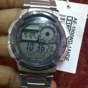 JAM TANGAN CASIO STAINLESS STRAP AE-1000 WD