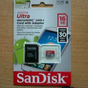 Micro SD Sandisk 16 GB Original