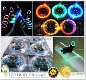 LED shoelace ( harga sepasang) tali sepatu nyala shoe lace shoes menyala shoeslace