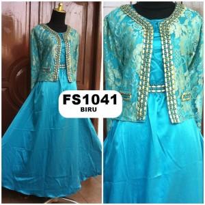 Afdhal Ikhsan Baju Gamis Maxi Dress Brokat Payet Mode