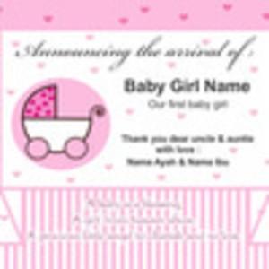 ... telah lahir / kelahiran anak / undangan / ultah / baby girl / cantik
