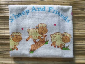 Handuk Sheep and Friends 100cm x 50cm