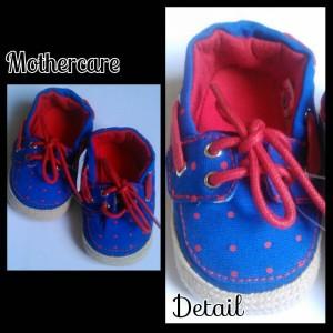 Mothercare biru polka merah