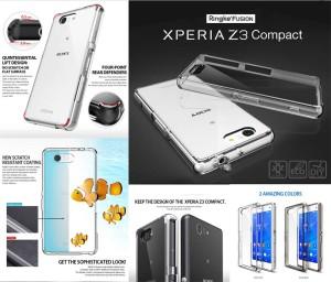 Jual Ringke Fusion Armor Cover Transparan Case Sony Xperia Z3 Compact